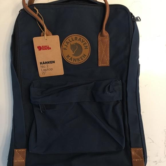 spotykać się unikalny design Zjednoczone Królestwo Fjallraven Kanken no. 2 laptop 15 navy backpack NWT